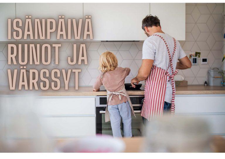 Isänpäivä runo Isä ja lapsi kokkailee isänpäivä aamupala